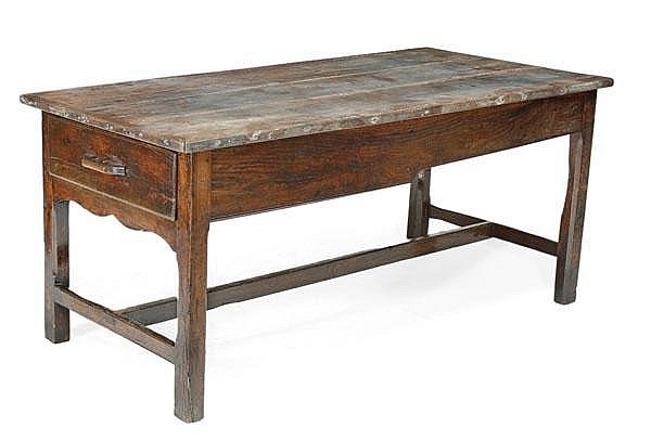 An oak refectory table, late 18th/early 19th