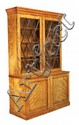 A Victorian satinwood bookcase, circa 1870, manner