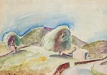 Frank Dobson (1888 - 1963) Landscape watercolour