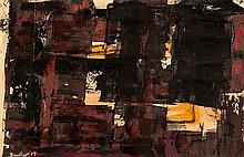 Kit Barker (1916-1988) Facade, 1958 oil on paper