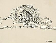 Harold Gilman (1876-1919) The Tree, Snargate pen