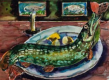 Marcus Harvey (b.1963) Still life with Pike, 1997