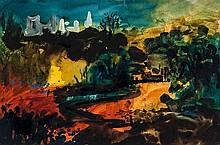 John Piper (1903-1992) Newcastle Emlyn,