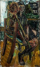 John Bratby (1928-1992) Gloria Bishop with a