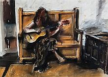 Robert Lenkiewicz (1941-2002) Belle with Guitar,