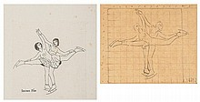 Eric Gill (1882-1940) The Skaters, 1926 pencil on