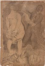 Stanley Spencer (1891-1959) Me and Hilda - dresses