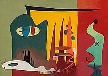 Reuben Mendikoff (1906-1975) Untitled, 1947 oil on