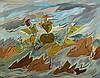 Paule Vezelay (1892-1984) Walking in the Wind oil