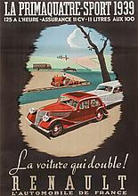 ANONYMOUS - RENAULT, Primaquatre-Sport 1939