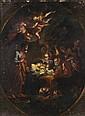 Italian School (18th century) The nativity, Oil on