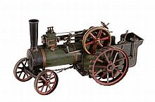An approximate 3/4 inch to the foot model of an agricultural Traction Engine