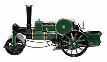 An exhibition quality model of an Aveling and Porter steam road roller