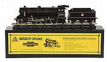 A boxed spirit fired live steam Bassett Lowke 0 gauge model of a British...