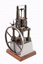 A Cotswold Heritage model of 'Titan' a vertical live steam table engine