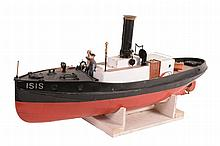 A wooden model of steam boat ¯rican Queen'