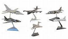 Aircraft models : a collection of six desk-top static models, including Ênberra