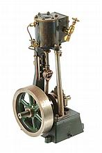A well engineered model of a vertical steam engine