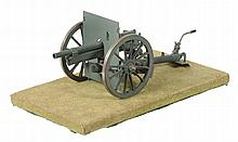 A model of a Military field gun, built by the Late Mr Len Braitch of...