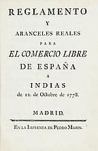 Spain & the Indies.- - Reglamento y aranceles