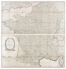 Faden (William) - A Map of France according to the