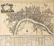 Senex (John) - A New Map of London, A Plan of the City's of London