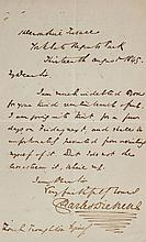 Dickens -  Autograph Letter signed to Richard Zouch Troughton, 1p