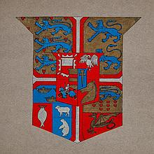 Heraldry.- - Samuels 4 albums of heraldic art, c. 1200 hand-coloured coats of arms