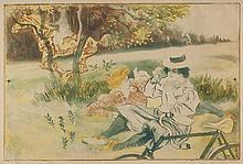 Legrand (Louis Auguste Mathieu) - Les Femmes avec un Vélo; La Fille a sa Tante,