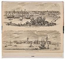 Panorama.- - Karta ofver Segelleden fram Stockholm Kanalvagen till Gotheborg,