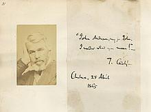 CARLYLE, THOMAS - Autograph note signed , reading