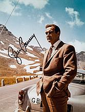 CONNERY, SEAN - Colour photograph of Sean Connery on the set of 1964 James Bond...