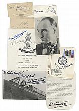 MILITARY INTEREST - Collection of papers, signed photographs and clipped signatures by...