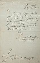 HMS TEMERAIRE - Autograph letter from a member of the Admiralty to J
