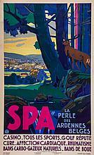 BERCHMAN, Emile (1867-1947) - SPA, La perle des Ardennes Belges