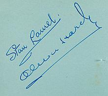 AUTOGRAPH ALBUMS - INCL. LAUREL & HARDY - Two autograph albums, different formats, the first including...