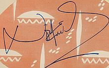AUTOGRAPH ALBUM - INCL. NOEL COWARD - Autograph album with signatures of actors, playwrights and sportsmen