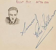 AUTOGRAPH ALBUM - INCL. PETER SELLERS - Autograph album with signatures of prominent actors