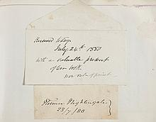 AUTOGRAPH COLLECTION - INCL. FLORENCE NIGHTINGALE - Autograph album with pasted clipped signatures