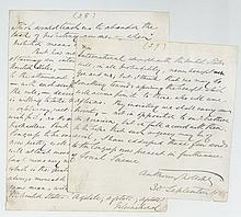 TROLLOPE, ANTHONY - Final two pages of a holograph manuscript by Anthony Trollope...