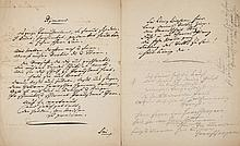 BACH, AUGUST WILHELM - Autograph transcript of a psalm and hymn, in German, in Bach's hand