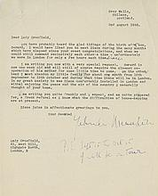 MENUHIN, YEHUDI - Collection of letters and notes to Lady Domini Crosfield by Yehudi...