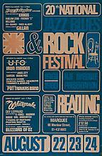 READING FESTIVAL - Original poster advertising the