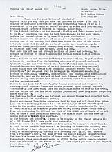 NILSEN, DENNIS - Two typewritten letters signed , the first expresses Nilsen