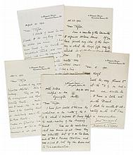TREVES, FREDERICK - Five autograph letters signed addressed to Mr Taylor and mainly...