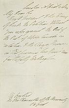 WELLESLEY ARTHUR, DUKE OF WELLINGTON - Autograph letter signed to the Vice-Chancellor of the University...
