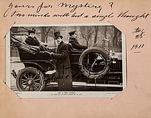 AUTOGRAPH ALBUM - ACTORS & ENTERTAINERS 1911-1912 - Autograph album containing signatures by early twentieth century...