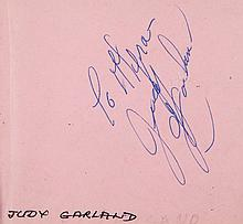 AUTOGRAPH ALBUM - INCL. JUDY GARLAND - Autograph album with signatures of American and European actors...