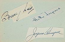 AUTOGRAPH ALBUM - INCL. RICHARD BURTON - Autograph album with clipped and pasted signatures of Richard Burton