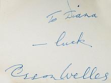 AUTOGRAPH ALBUM - INCL. LAUREL & HARDY, O. WELLES - Autograph book with signatures of actors, musicians, sportsmen